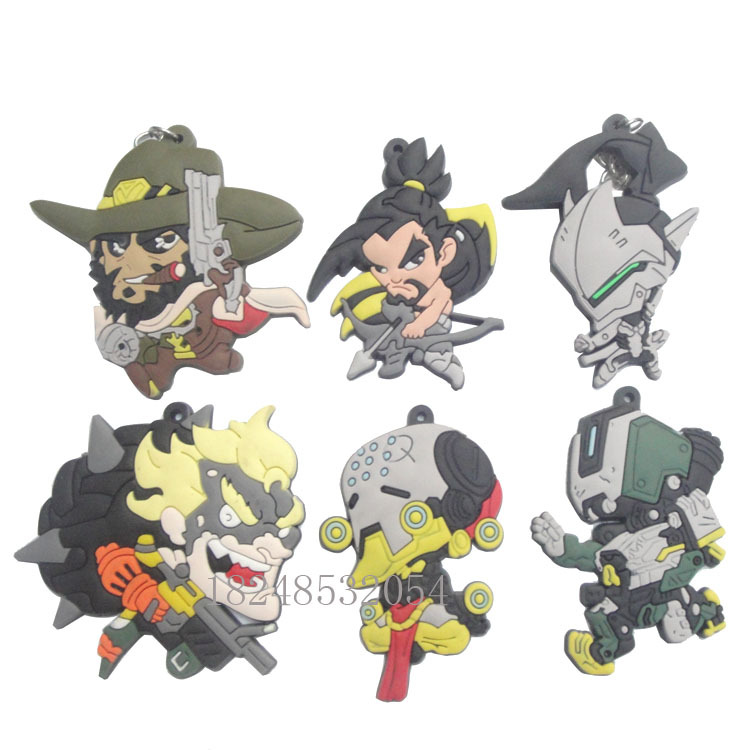 2017 New Fund Sell Like Hot Cakes 6.5CM Cartoon Network GameCharacters Key Chain Ow Deat ...