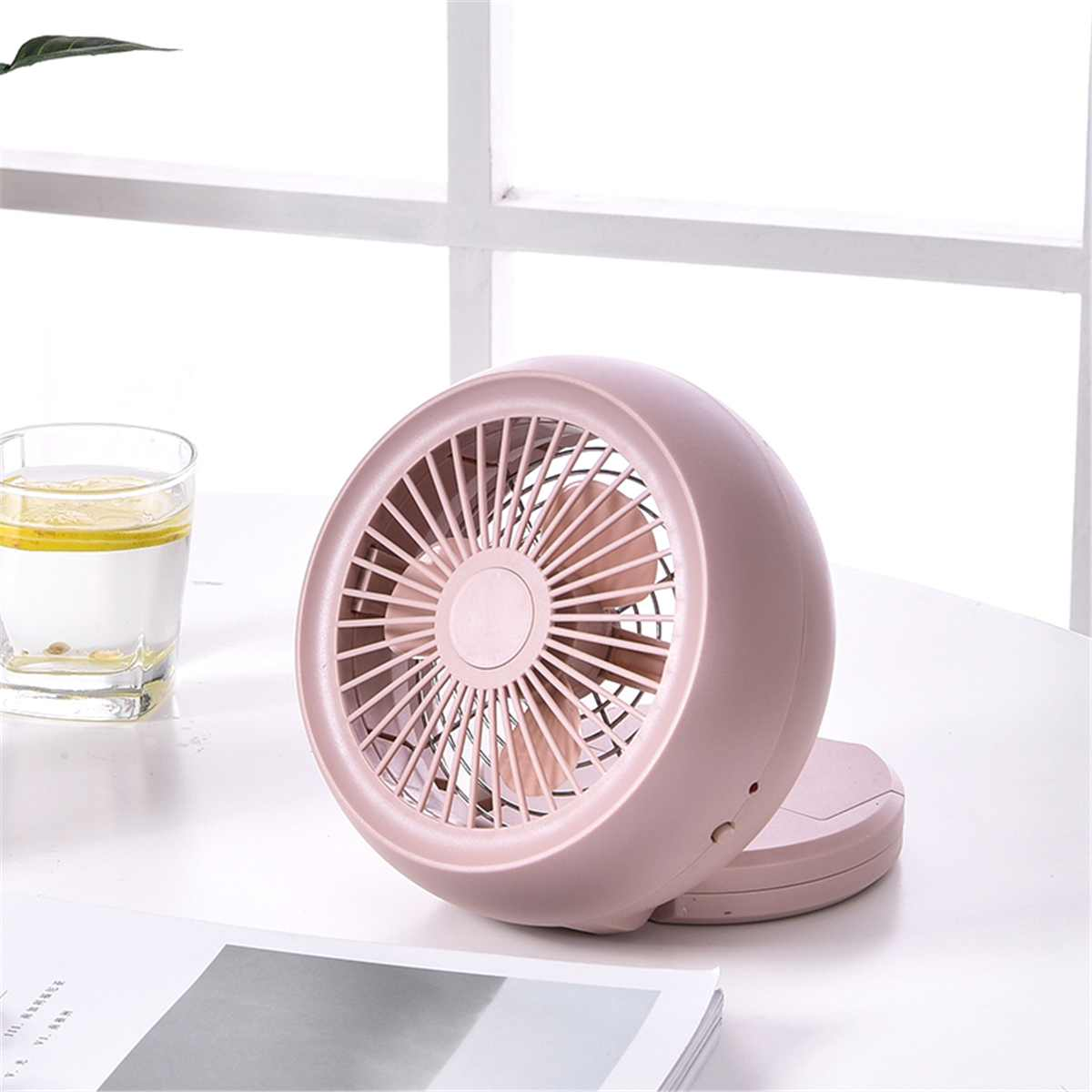 4 Colors Mini Desk Fan Electric Snail Air Cooling Cooler For Home Office Portable Ventilator Fans Appliance USB/Battery Powered