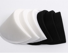 10pairs/lot 14.5x9cm thickness:1cm Clothing Accessories Black and White Shirt Sponge Shoulder Pads Dress