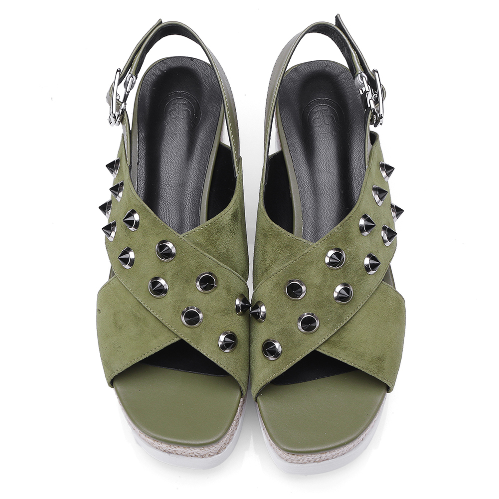 Chaussures Daim À 34 Mode Enfant Noir Femme Sarairis Compensées Sandales Plate Été Épais Grande 42 Naturel Taille vert En forme 2019 Haute Femmes Semelles Qualité HOw0vUq