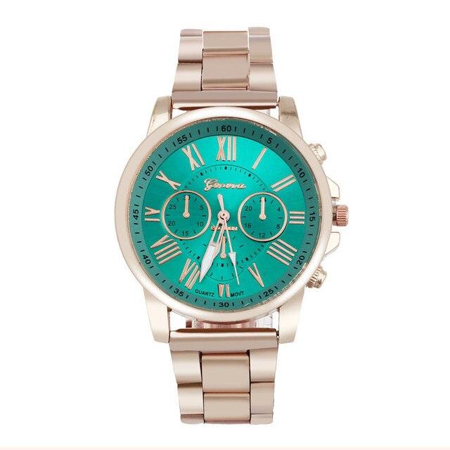 erkek kol saati Colorful Womens Mens Stylish watch Roman numerals Stainless Steel Big Dial Watch Quartz Sports Watch 2