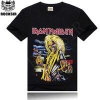 Factory Price Hot Sale 100 Cotton Black Tee Shirt Men S Rock T Shirt S M