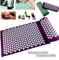 1 Set Yoga Acupressure Cushion Body Pain Stress Relief Acupuncture Massage Spike Yoga Mat With Pillow