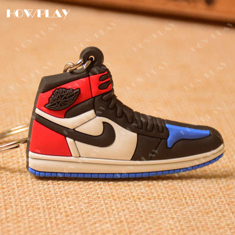 huge selection of 27007 9f4bb ... HowPlay mini sneakers jordan 1 keychains bag charm basketball shoe model  keyring AJ1 backpack pendant key ...