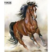 Yikee 5d алмазная картина полная дрель лошадь полный квадратный