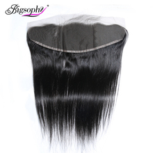 Bigsophy Hair Brazilian Straight Lace Frontal 100% Human Closure Remy 13x4 Extension
