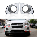 2 Pcs/Set Car Styling Front Fog Lamp Daytime Running Light Cover For Chevrolet Trax 2015 2016 ABS Trim Protection Accessories