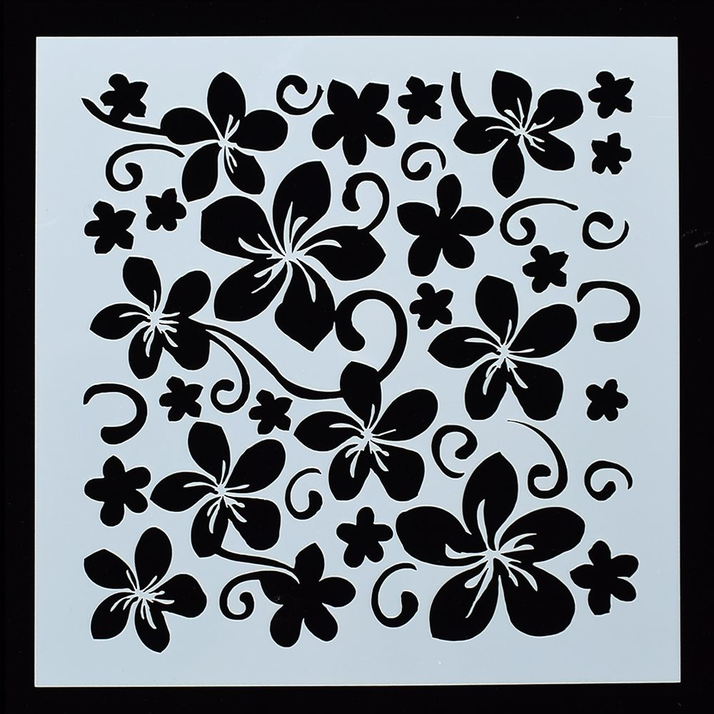 1PC Five-Leaf Flower Shaped Reusable Stencil Airbrush Painting Art DIY Home Decor Scrap Booking Album Crafts