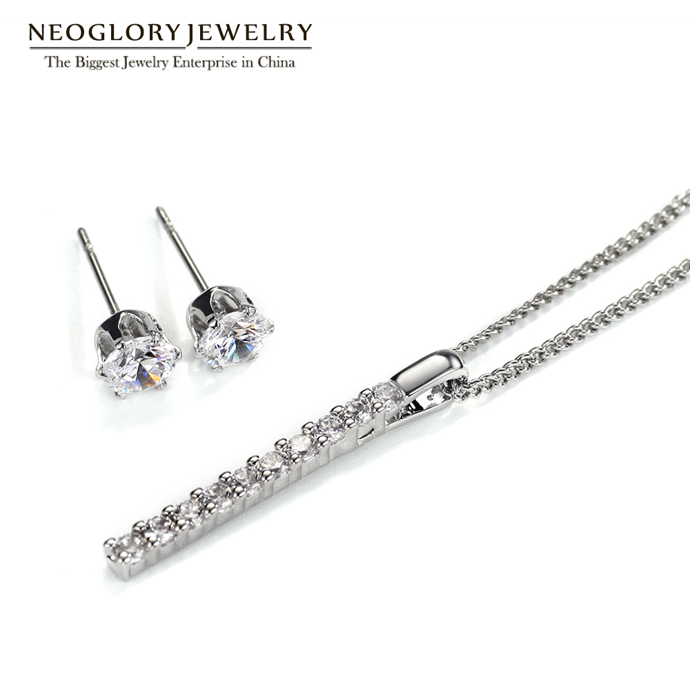 Neoglory Earrings Jewelry-Sets Necklaces Charm Christmas-Gifts Bridal Wedding Women Fashion