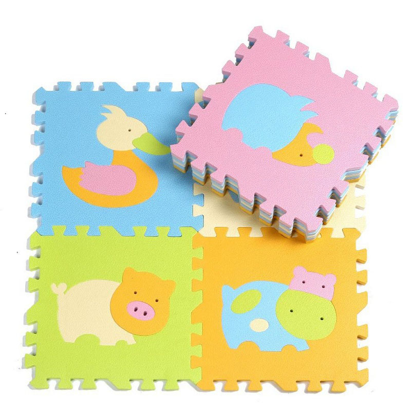 Cartoon Animal Design Eva Foam Puzzle Play Mat For Kids