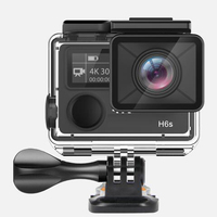 Winait dual display waterproof action camera, super 4k wifi digital sports video camera