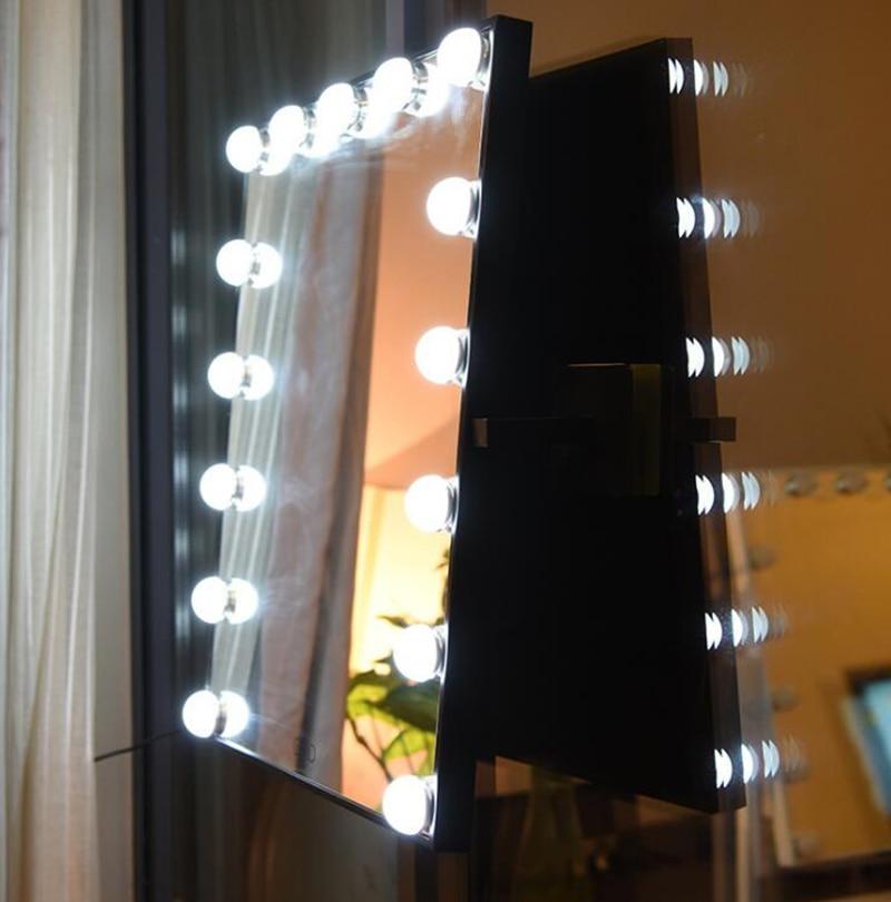 Hollywood Super Star Stijl LED Voorkomen de nagel muur Vanity Make Up Spiegel Lichten van wit gele lichten swap touch screen - 2