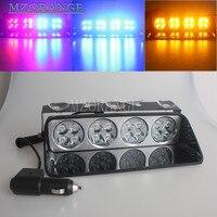 48 Watt Polizei Lichter 16 LED Rot/Blau Autosauger Röhrenblitz-blitz-licht Dash Notfall Blinkende Lichter 12 V