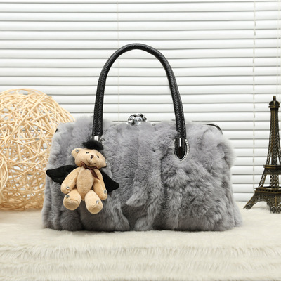 Winter Luxury Messenger Bag Genuine Leather Handbags Fashion Woman Real Fur Bags For Ladies Women Tote BagWinter Luxury Messenger Bag Genuine Leather Handbags Fashion Woman Real Fur Bags For Ladies Women Tote Bag