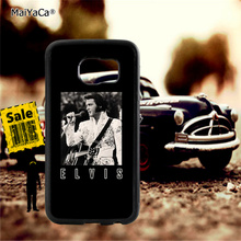 Elvis Presley retro art soft TPU edge phone cases for samsung s6 edge plus s7 edge s8 plus s9 plus note5 note8 note9 cover case pop art sad girl soft tpu edge mobile phone cases for samsung s6 edge plus s7 edge s8 plus s9 plus note5 note8 note9 case