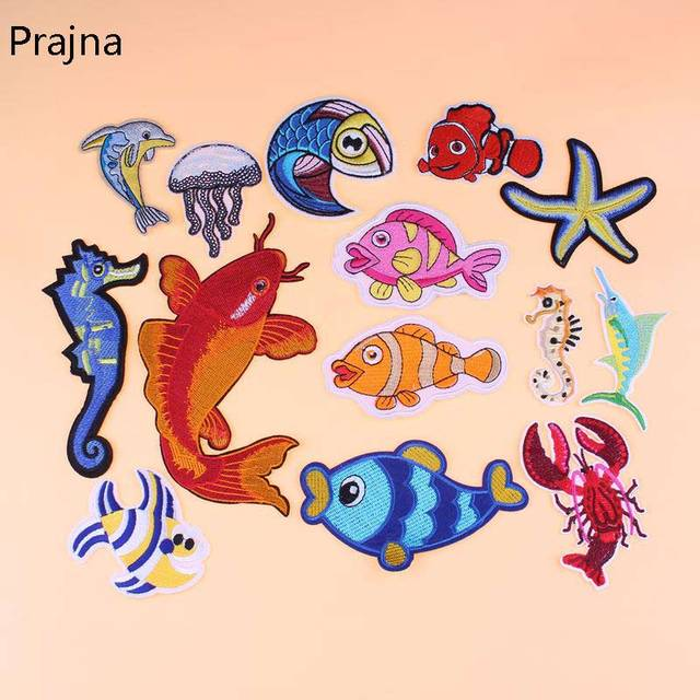 Lobster Patch Fish Dolphin Marine Sea Animals Sea Star Crab Patch