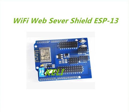Free Shipping 1PCS wireless WiFi Web Sever Shield for font b Arduino b font esp8266 diy