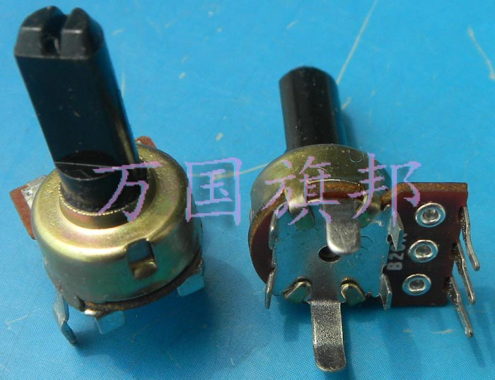 Free Delivery. 121 single union vertical B20K B203 15 mm long potentiometer handle half shaft