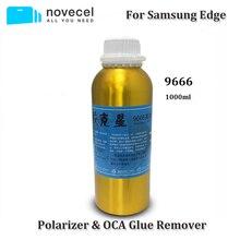 Novecel ücretsiz kargo 4 şişeleri 1000ml 9666 için OCA tutkal sökücü S6 s7 kenar artı s8 S9 S10 artı not 8 9 10 mobil telefon araçları