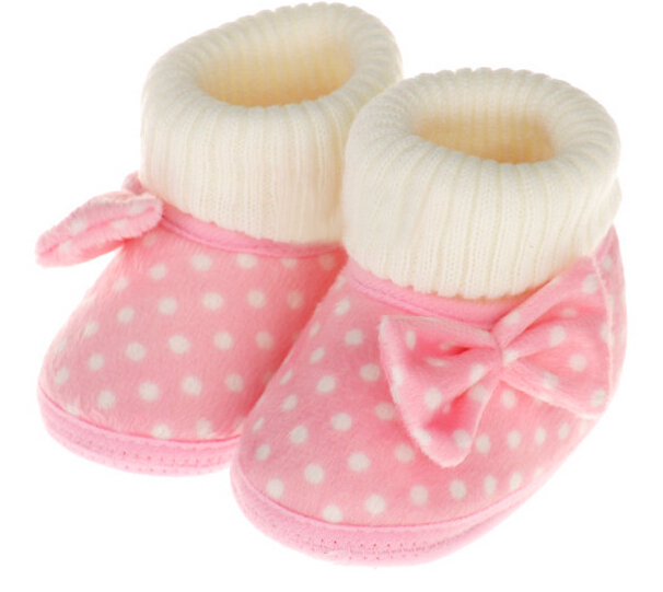 Aliexpress.com : Buy Polka Dot Soft Baby Shoes Fall Winter Baby ...