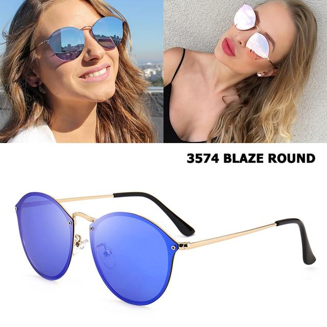 3957ef08472 JackJad Fashion Trend 3574 BLAZE ROUND Style Sunglasses Vintage Retro Brand  Design Color Mirror Sun Glasses
