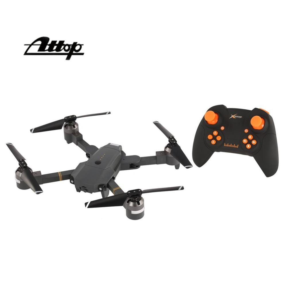 Attop XT-1 RC Drone Quadcopter 2.4G Altitude Hold Mode Foldable Headless 3D Flip Roll One Key Takeoff/Landing Speed Switch attop xt 1 wifi 2 4g fpv drone camera 3d flip altitude hold foldable one key take off landing headless mode rc quadcopter