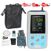 FDA Arm Ambulatory Blood Pressure Monitor 24hours NIBP Holter ABPM50+ Adult,Child ,Large ,3 Cuffs, Free PC Software CONTEC