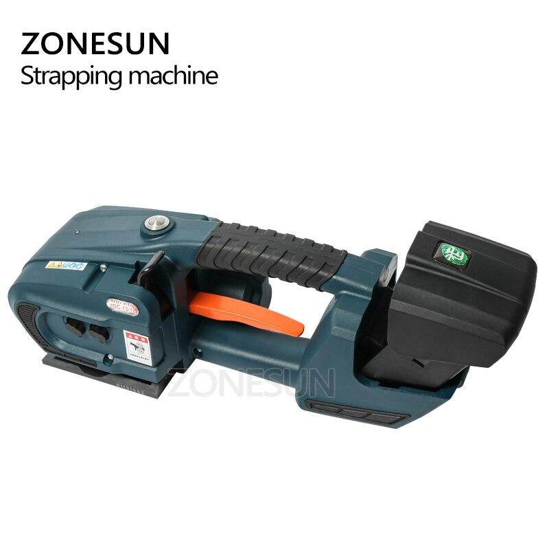 Image 5 - ZONESUN обвязочная машина для 13 мм 16 мм PET/ PP пластиковые ремни для аккумулятора 4.0A/12В JDC упаковочная машина с 2 батареямиОберточные машины    АлиЭкспресс