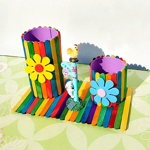 Model Pen Container Kindergarten Children Handmade Material Package