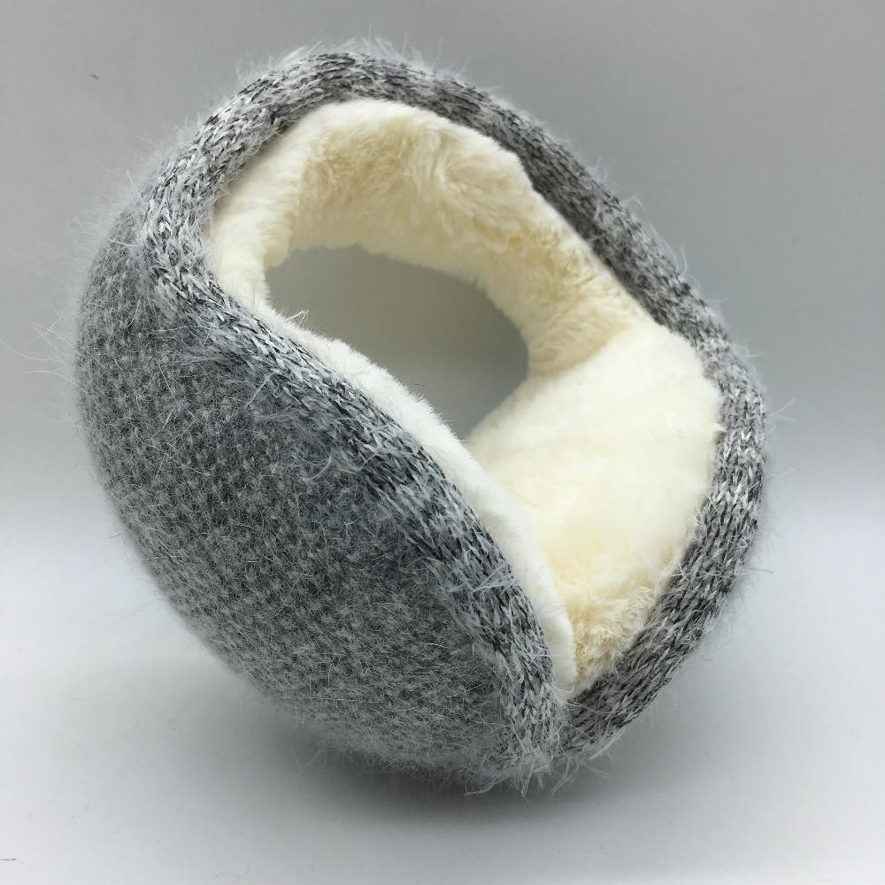 Winter Latest Knitted Rabbit Wool With Folding Earmuffs Man And Women Warm Fashion Ear Warmer