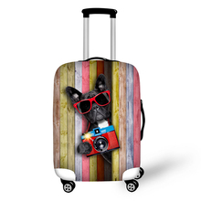 купить Color Board Animal design travel accessories suitcase protective covers 18-30 inch elastic luggage dust cover case stretchable по цене 1011.49 рублей