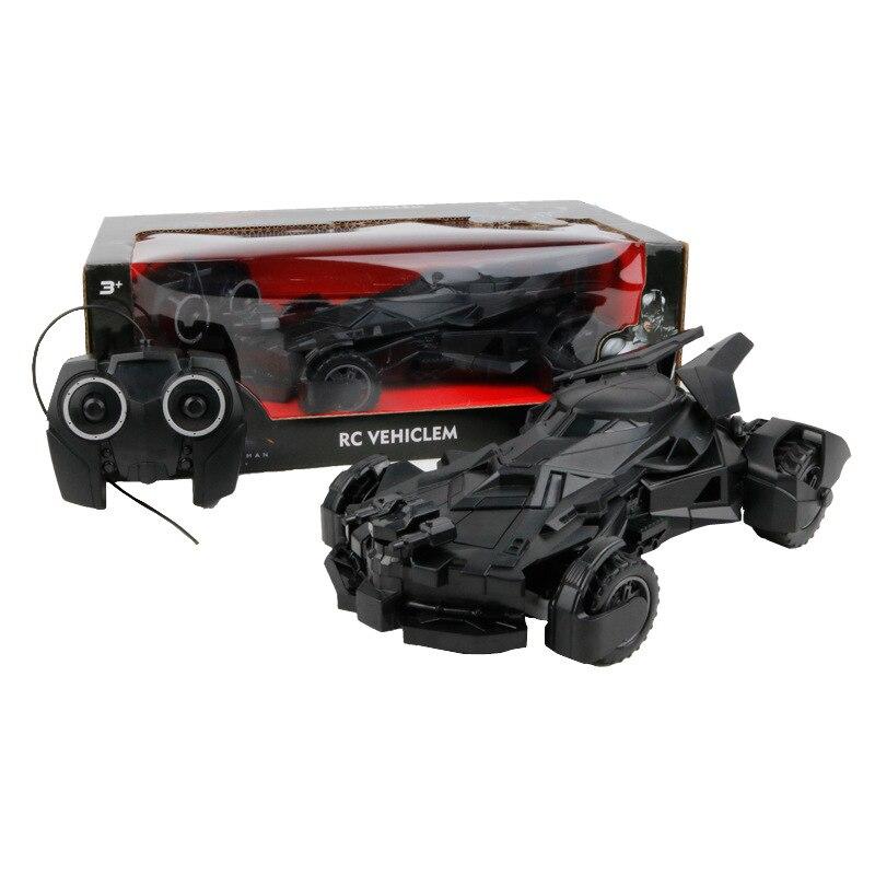 Super Cool Baby Boy Black Batman Chariot RC Car 4wd Remote Control Electric Toys Car Kids RC Car Toy Child Car Toy Boy Gift