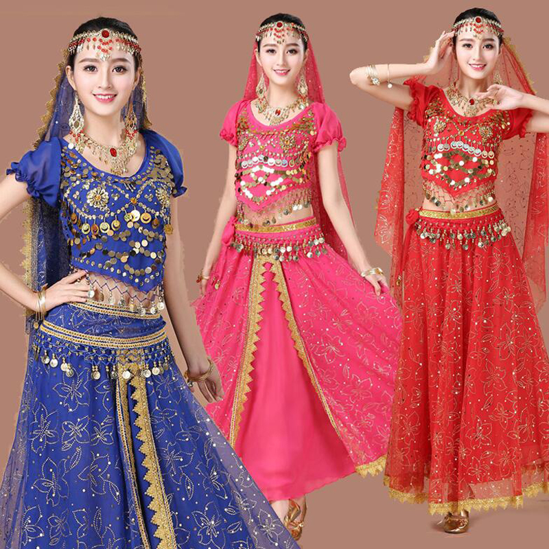 3Pieces Set Belly Dance Costume Bollywood Costume For Female Indian Dress Belly Dance Dress Womens Belly Dancing Costume Outfit