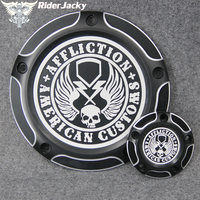 For Harley Motorcycle Dyna Softail 1999 2017 2014 2015 2016 New American Customs Skull Five Holes Wing Derby Timing Timer Cover