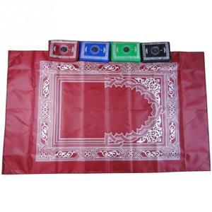 Image 4 - Alfombra portátil musulmana de viaje de bolsillo con brújula alfombra impermeable con brújula Qibla Kaaba brújula