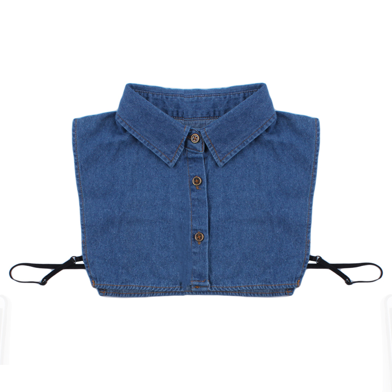 Spring And Summer False Collar New Decorative Sweater Fake Shirt Collar Men And Women Fashion Wild Cotton Denim Shirt Tie