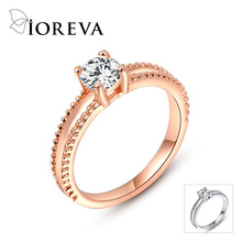 anel wedding rings for women cz diamond rose gold plated engagement ring party jewelry bague femme anillos mujer aneis feminino