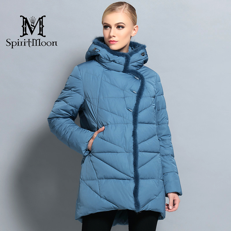 New Women Winter Jacket Hooded   Parka   Medium Length Warm Female Thick Coat Bio Down Jacket With Natural Fur Big Plus Size 5XL 6XL