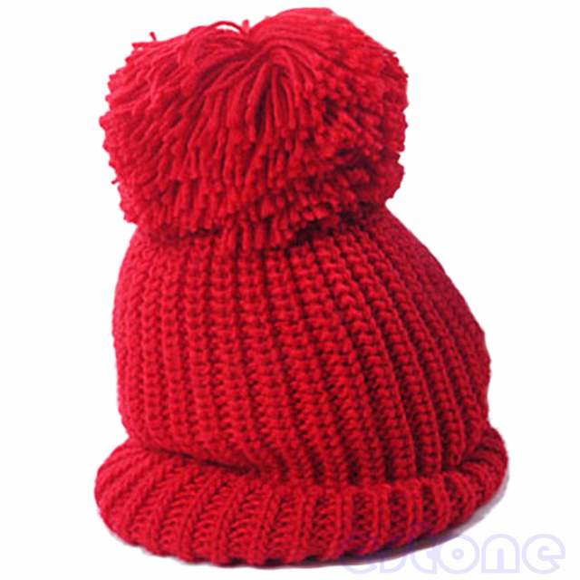 1198de646 Hight Quality Women's Winter Slouch Knit Cap Warm Oversized Cuffed Beanie  Crochet Ski Bobble Beanies knitting wool Hat