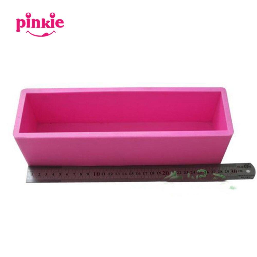 Moules à savon en Silicone faits à la main de bloc rectangulaire moules de deration de gâteau moules à pain en silicone 3D