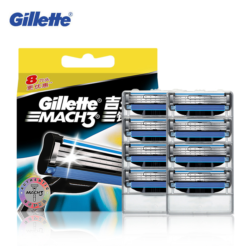 Echtes Gillette Mach 3 Rasieren Rasierklingen Für Männer Marke Klinge Zu Rasieren Mit 8 Klingen