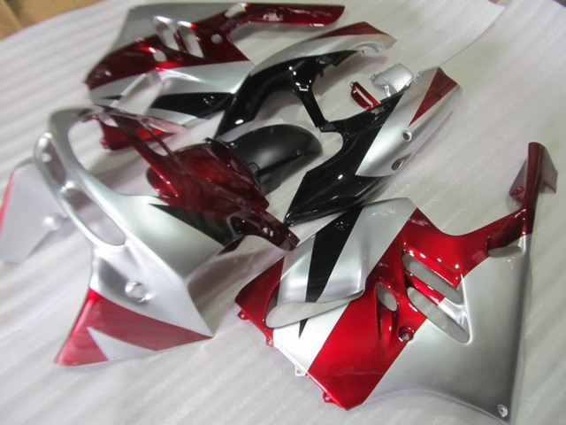 Free screws+gifts  For Kawasaki ZX9R ZX-9R 94 95 96 97 1994 - 1997 ABS Red Silver Plastic Covers Fairing Kit Bodywork Cowling