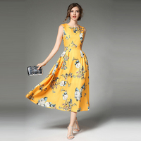 Girls Floral Prints Dress Party Evening Elegant Bohemian Robe Femme Ete 2017 Summer Dress Sexy Ukraine