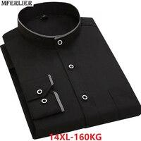 larger plus big size autumn men casual shirt Long sleeve 14XL work Dress shirts 12XL 7XL 8XL 9XL 10XL 11XL blue england style