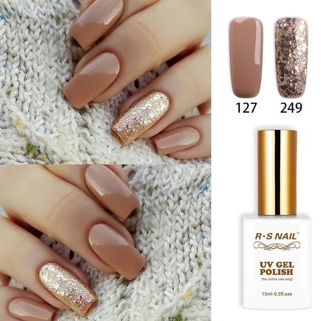 RS Nail 15ml uv led gel nail polish No.127+249 gel varnish nail ...