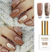 RS Nail − vernis gel uv, vernis à ongles gel led + 249, conception des ongles, 15ml, recommandé pour manucure à French