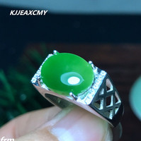 KJJEAXCMY Fine Jewelry Flawless Color Beautiful Natural Jasper Large Particles 925 Sterling Silver Male Ring Mouth