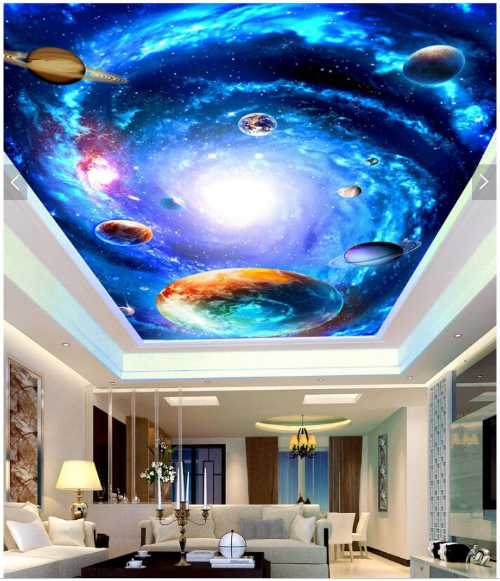 Custom Photo 3d Wallpaper Ceiling Mural Star Of The Milky Way Galaxy Background Painting 3d Wall Murals Wallpaper For Walls 3d