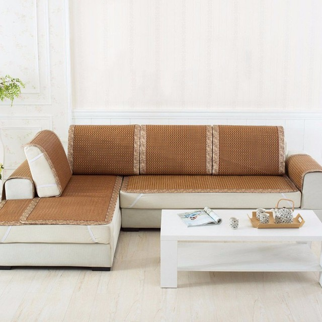 Retro Stain Resistant Sofa Cover Delicate Pad Rattan Mat Sofa Protector  Couch Silp 600x1200mm Household