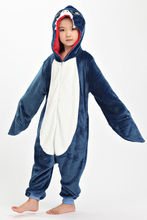 2016 TOP Children Kid Pajamas Unisex Cosplay Animal Costume Onesie Nightwear Penguin Unicorn Stitch Panda Dinosaur Giraffe Shark